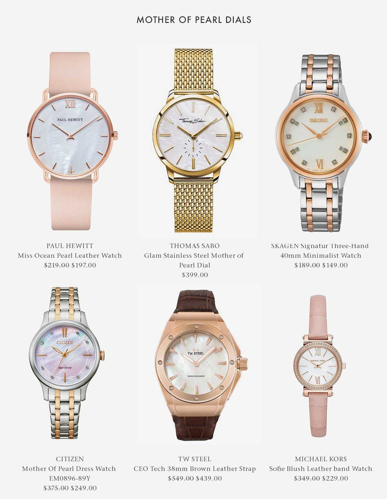 Mother Of Pearl Dial Watches