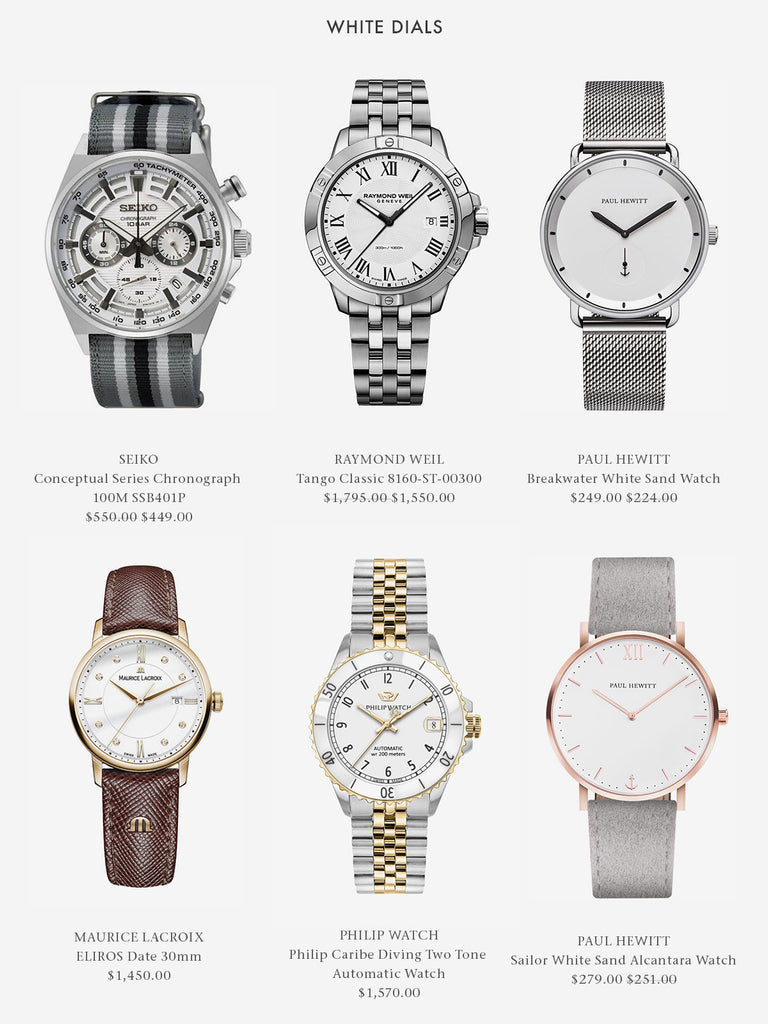White Dial Watches