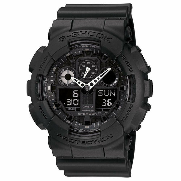 Casio G-Shock Military Matte Black Mens Watch GA100-1A1