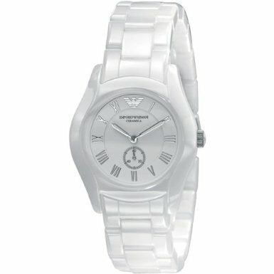 Emporio Armani White Ceramic With White Dial Ar1405 - Womens Watch
