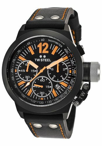 Tw Steel Mens Ceo Canteen 45 Mm Chrono Black Strap