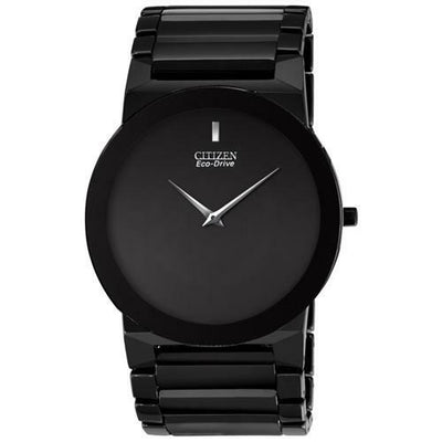 Citizen Eco-Drive Stiletto Blade Black Ceramic Mens Watch