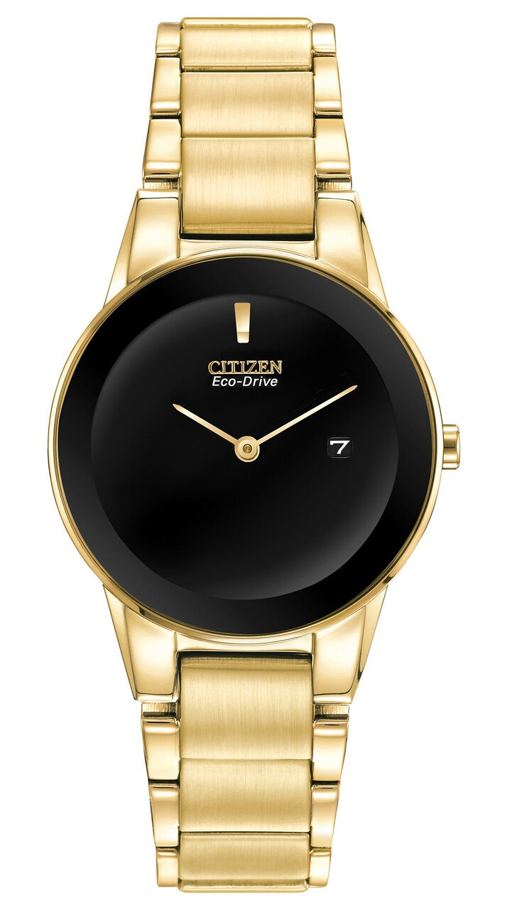 Citizen Eco-Drive Axiom Gold Tone Womens Watch