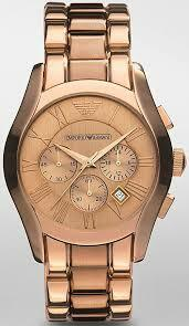 Armani Emporio Marco Rose Gold Chronograph Ar0365 - Mens Watch
