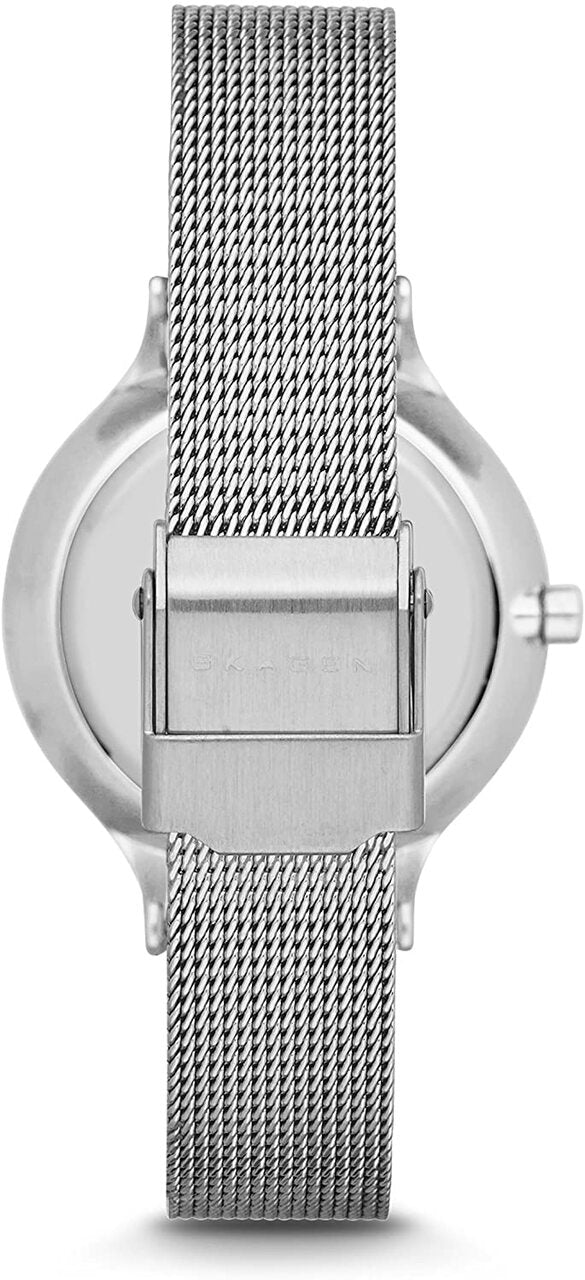 Mesh Band Silver Dial Watch