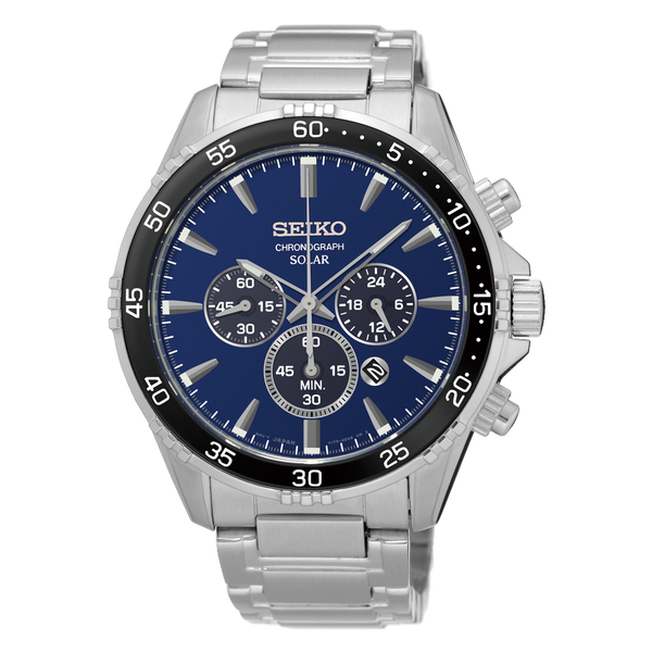 Seiko Solar Chronograph Mens Watch SSC445P9