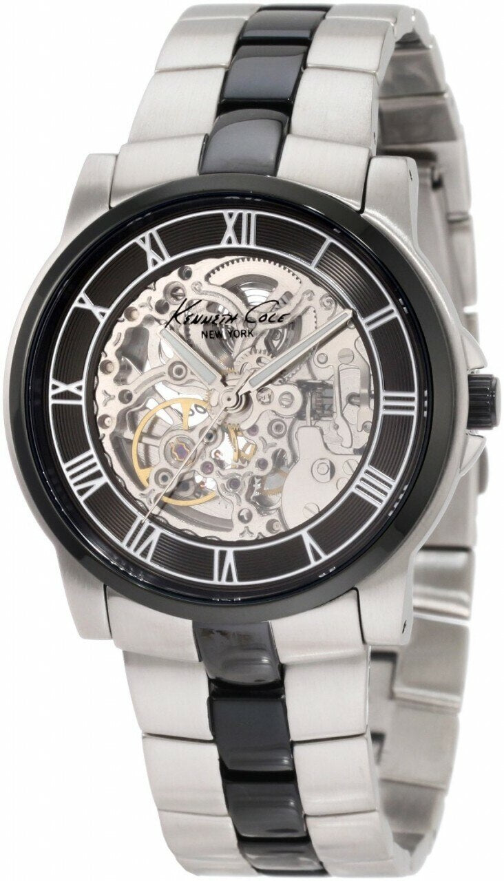 Kenneth Cole New York Automatic Gun Ion-Plating Round Kc9041 - Mens Watch