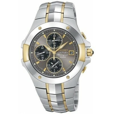 Seiko Coutura Two-Tone Steel Alarm Chronograph Sna548 - Mens Watch