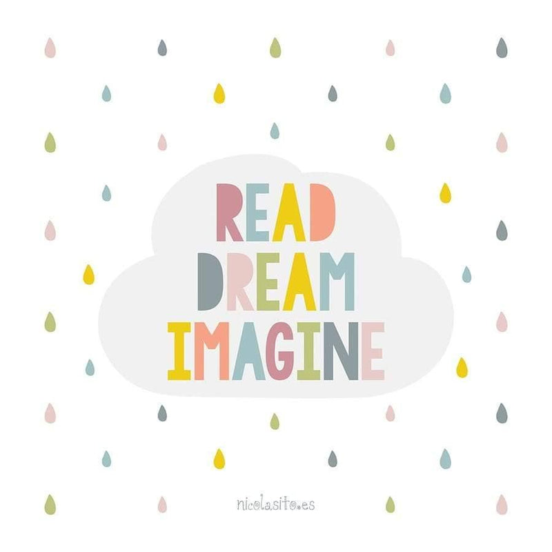 Lamina infantil Read Dream Imagine Nicolasito