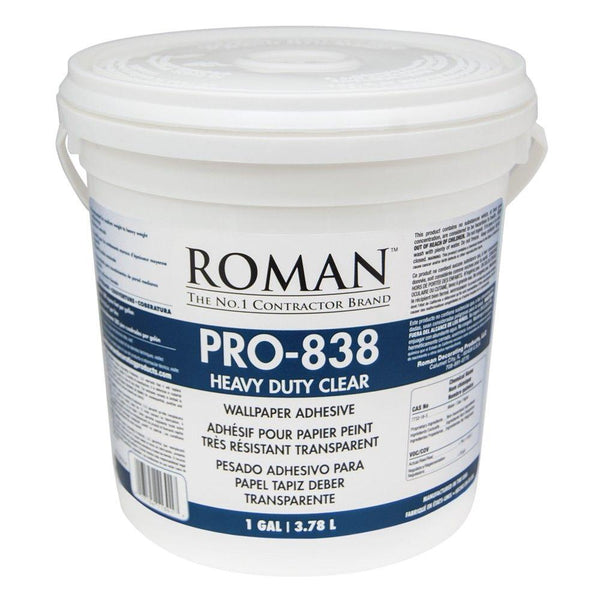 Roman 11301 Heavy Duty Clear Adhesive, Gallon