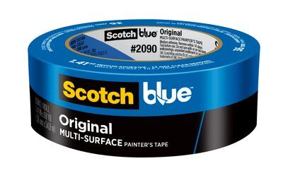 ScotchBlue™ Painters Tape - 60 yd Long, 1-13/32 in Wide, 5.4 mil Thick, Blue