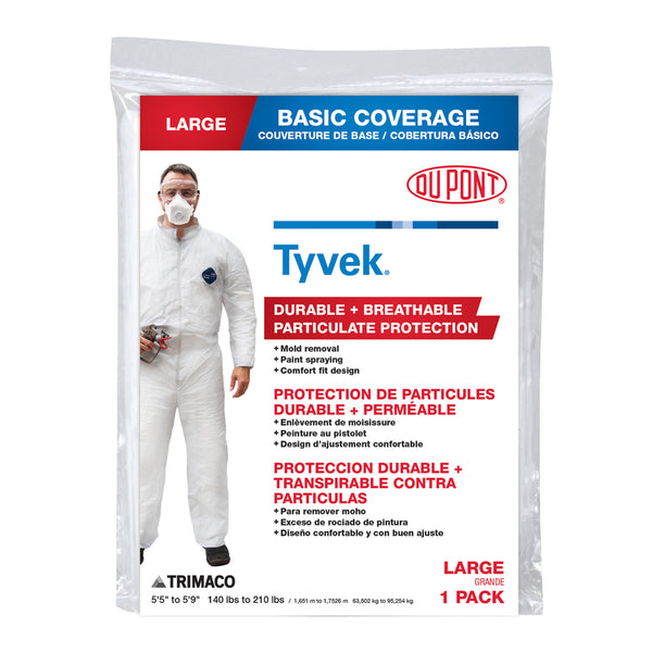 Trimaco Tyvex Coveralls Large