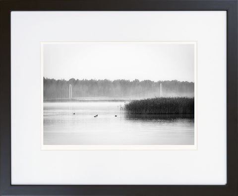 Foggy Morning on Tamula Lake II - fine art photography store - elvistudio photography - A4 (210x297mm) / Black - 1