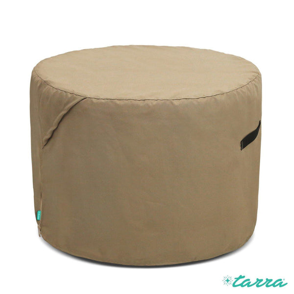 Universal Outdoor Patio Round Table Cover in Presidium Tan - Tarra Home