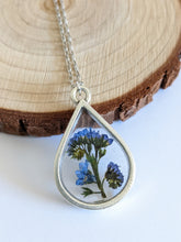 Load image into Gallery viewer, Forget Me Not Drop Necklace
