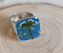 Load image into Gallery viewer, Cerulean Blue Flower Ring