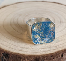 Load image into Gallery viewer, Cerulean Blue Metallic Ring