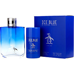 PENGUIN ICE BLUE EDT SPRAY 3.4 OZ & DEODORANT STICK ALCOHOL FREE 2.7 OZ