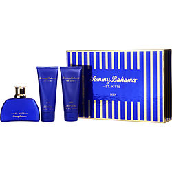 TOMMY BAHAMA ST KITTS EAU DE COLOGNE SPRAY 3.4 OZ & AFTERSHAVE BALM 3.4 OZ & HAIR AND BODY WASH 3.4 OZ