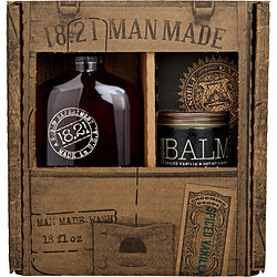 MAN MADE MAN MADE WASH SPICED VANILLA & BEARD BALM SPICED VANILLA (WASH 18 OZ, BALM 2 OZ)