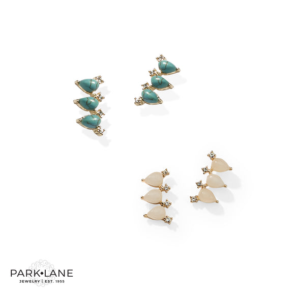 Park Lane Hula Earrings Ear Crawlers with a Pop of Color & Crystals