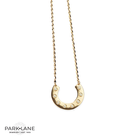 Park Lane Stampede Necklace Horseshoe with Glass Pearls