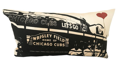 Chicago Lover's Wrigley Field Rectangular Cotton Canvas Throw Pillow