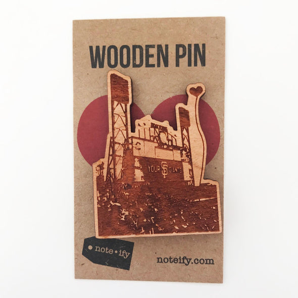 San Francisco Giants Ballpark Wooden Pin