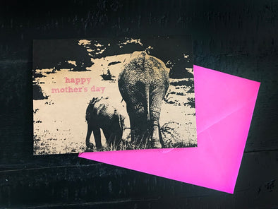 Happy Mother's Day Elephant single note card