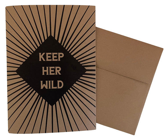 Keep Her Wild 5x7 recycled kraft single note card