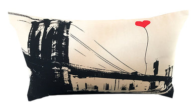 Brooklyn Bridge Rectangular Canvas Throw Pillow