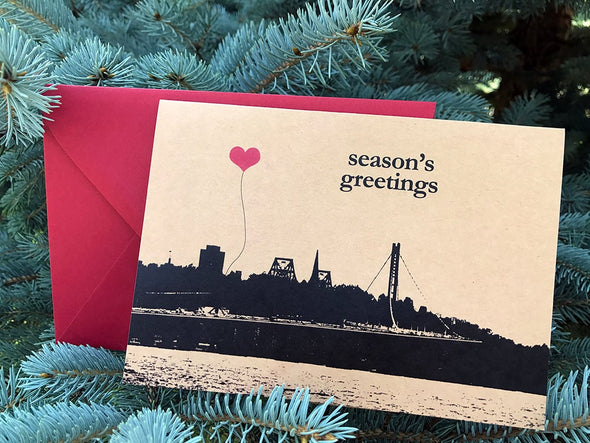 Season's Greetings Bay Bridge note card set