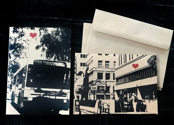 Oakland Transit set of 2 note cards