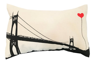 Portland Oregon St. John's Bridge Rectangular Canvas Throw Pillow