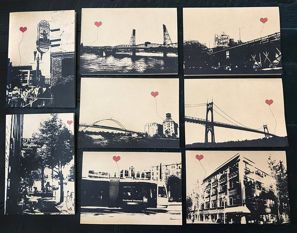 Portland Lover's Assorted Boxed Set of 8 note cards