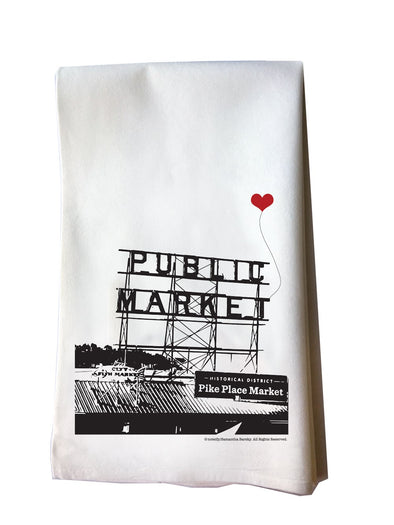 Seattle Pike Place Public Market Tea Towel