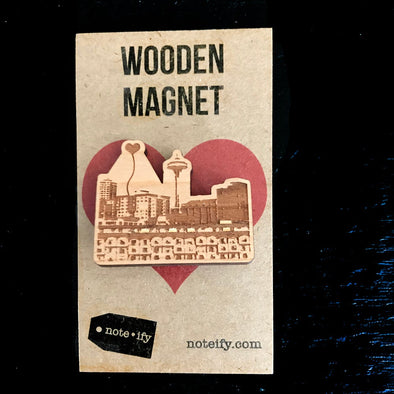 Seattle Space Needle Wooden Magnet