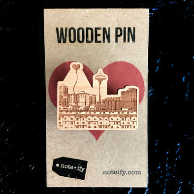 Seattle Space Needle Wooden Pin