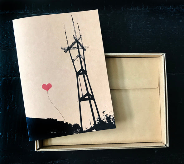 San Francisco Sutro Tower single note card