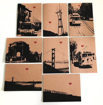 San Francisco Lover's Boxed note card set
