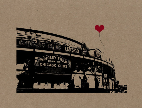 Wrigley Field Chicago Cubs Poster Print