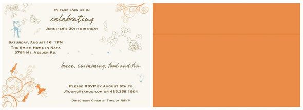 Custom Birthday (or Bridal Shower, etc.) Invitations