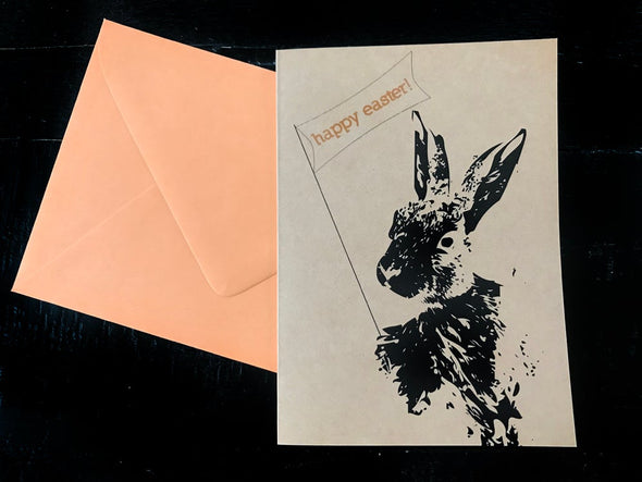 Happy Easter from a Bunny single note card