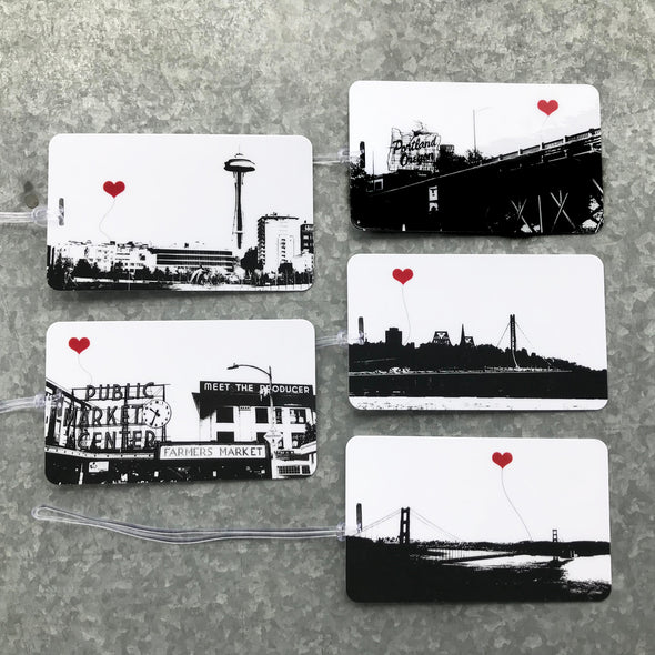 Seattle Pike Place Market Luggage Tag