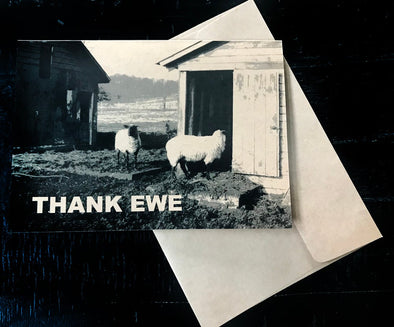 Thank Ewe single kraft note card