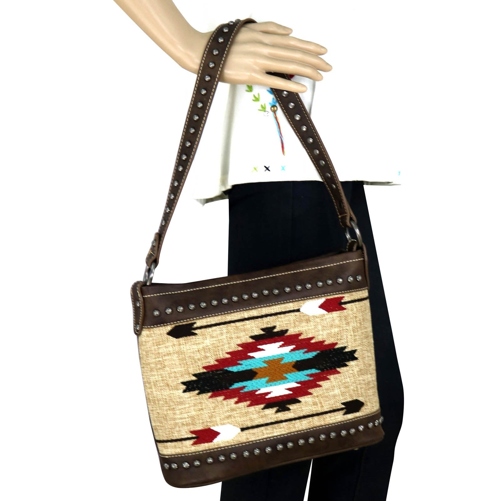 Concealed Carry Aztec Hobo Purse