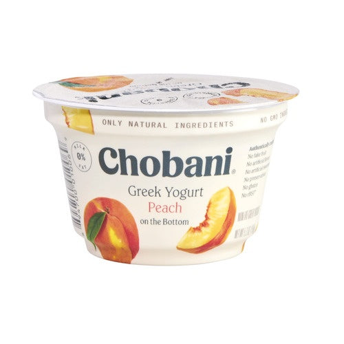 Chobani® peach Greek yogurt