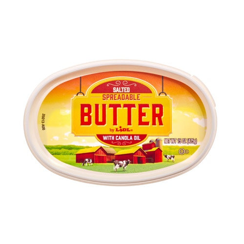 Lidl salted spreadable butter with canola oil