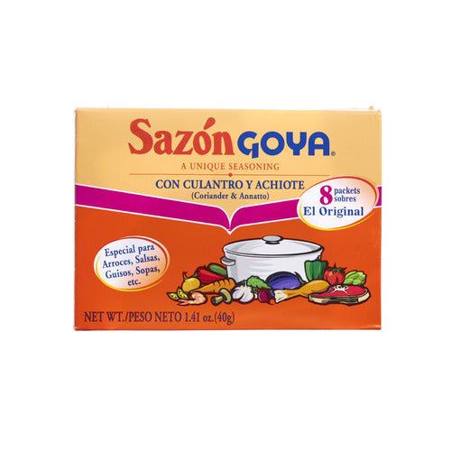 Goya Sazón® cilantro and achiote seasoning