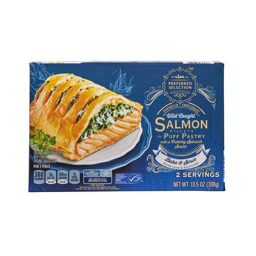 Lidl Preferred Selection frozen wild caught salmon fillets in puff pastry